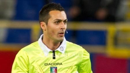 L'arbitro Di Bello della sezione di Brindisi, già a Cittadella nella sfida d'andata col Crotone.