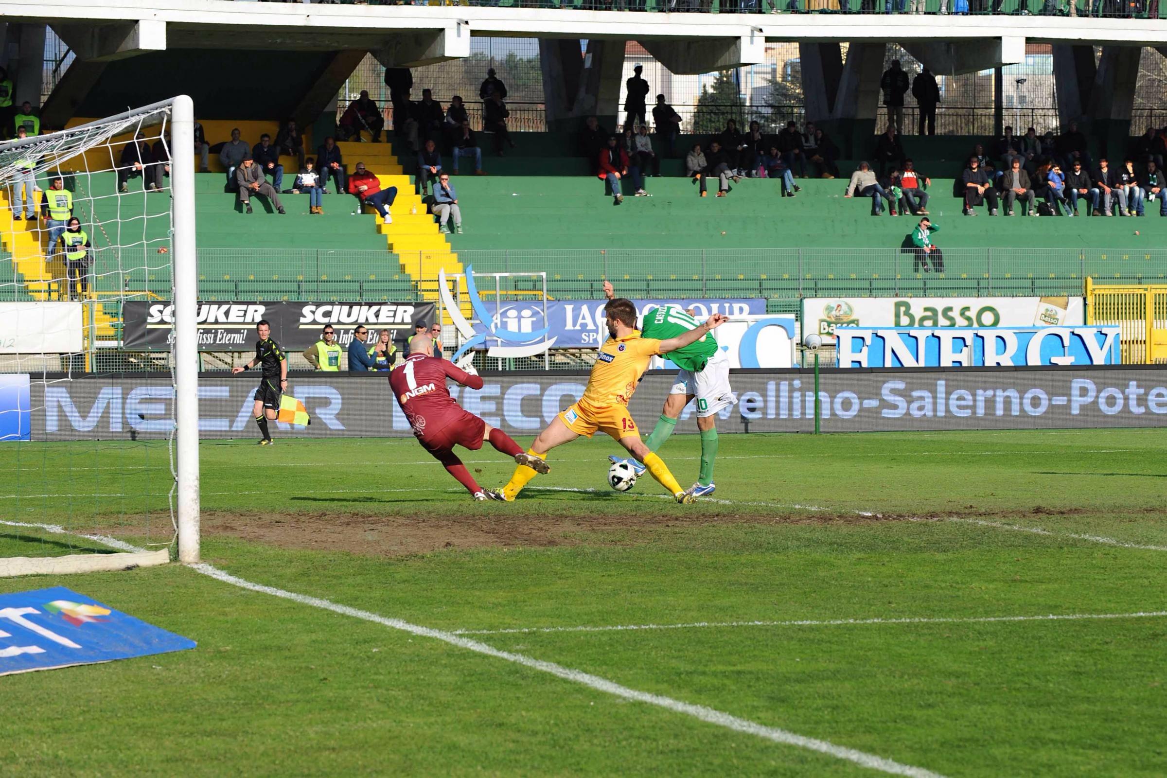 Il gol di Castaldo che ha deciso il match.