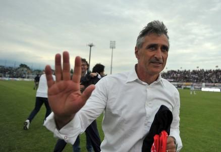 Claudio Foscarini in Cittadella - Ascoli della passata stagione, a fine gara dopo l'ennesima salvezza raggiunta.