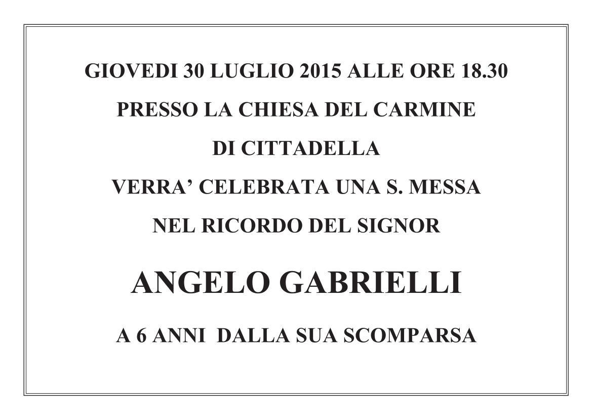 2015 Messa 6 anni Sig. Angelo