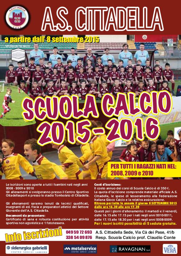 Volantino Scuola Calcio 2015 16 copia