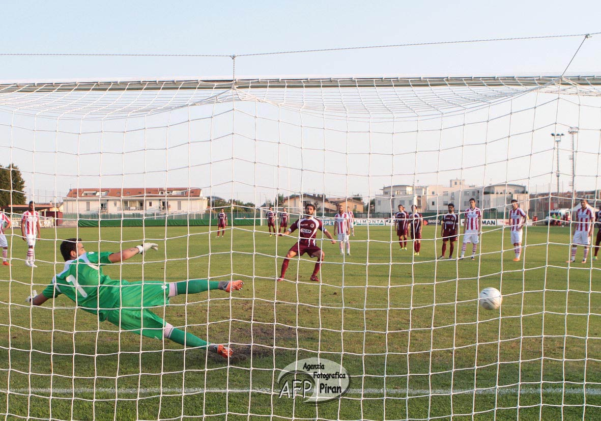 Il gol su rigore del momentaneo pareggio di Iori.
