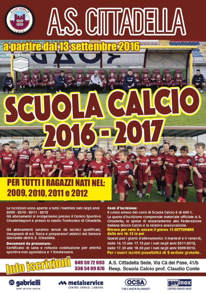 Volantino Scuola Calcio 2016 17-01