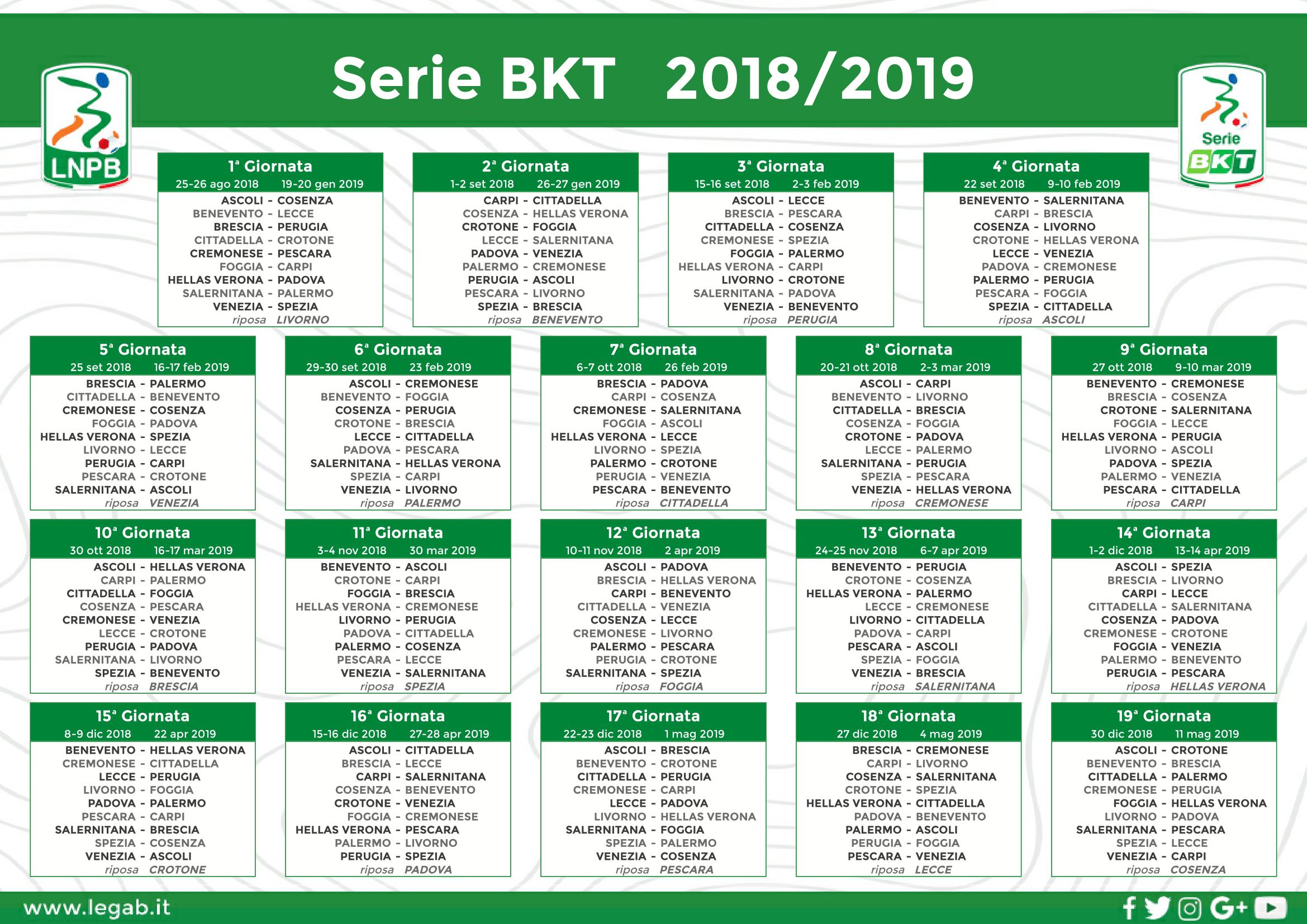 Calendario Anno 2018 Pdf.Calendario 2018 19 A S Cittadella 1973